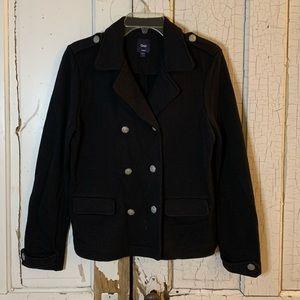 Gap black double breasted pea coat Size Large